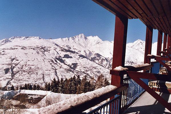 Ausblick vom Balkon Mietobjekt Studio 155 Les Arcs