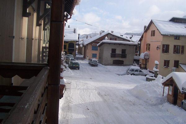 Ausblick vom Balkon Mietobjekt Haus 16964 Montgenevre