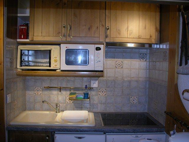 offene Küche Mietobjekt Studio 211 Les Arcs