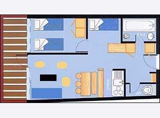 Grundriss des Objektes Mietobjekt Appartement 28016 Les Arcs
