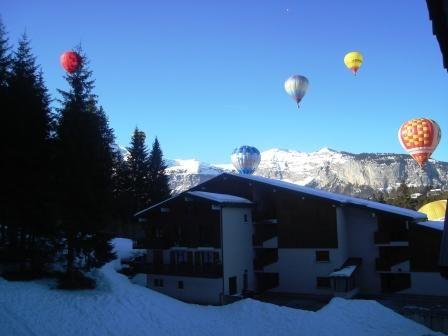 Ausblick vom Balkon Mietobjekt Studio 28096 Les Carroz d'Araches