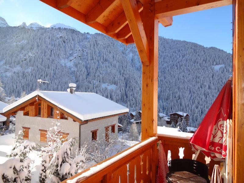 Ausblick vom Balkon Mietobjekt Chalet 3290 Valfréjus