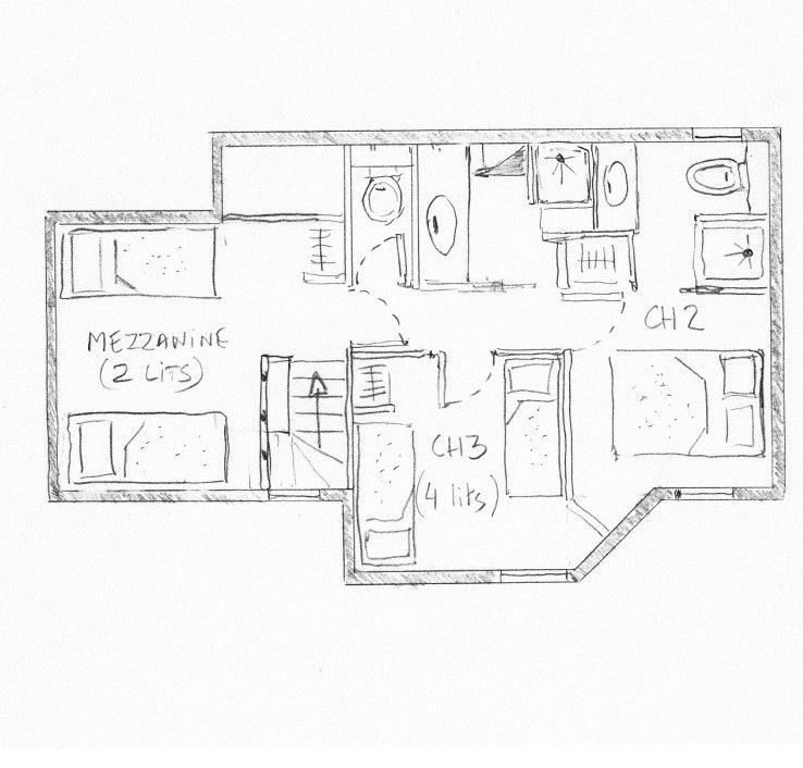Grundriss des Objektes Mietobjekt Appartement 55934 Valmorel