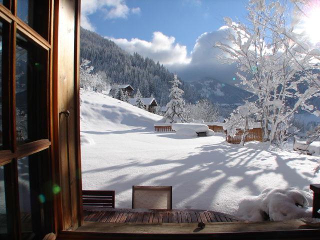Ausblick aus der Ferienunterkunft Mietobjekt Chalet 600 Châtel