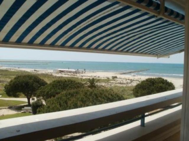 Ausblick von der Terrasse Mietobjekt Appartement 86917 Le Grau du Roi