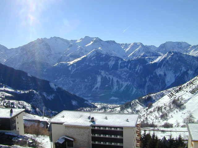 Ausblick von der Terrasse Mietobjekt Appartement 64 Alpe d'Huez