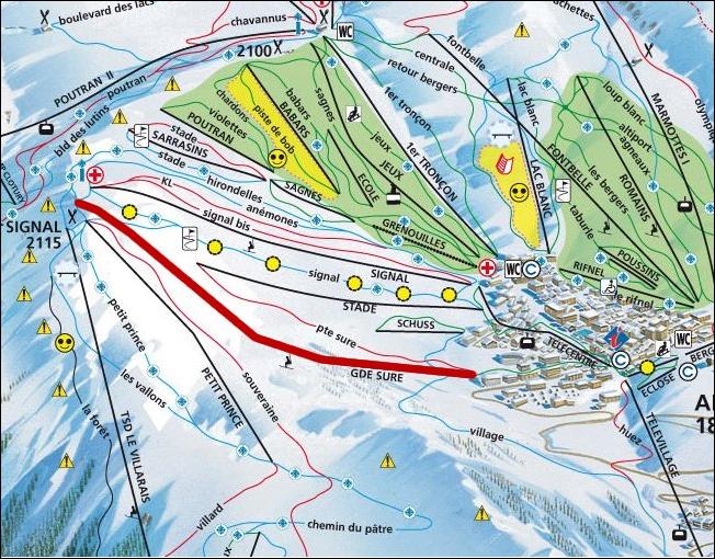 Kartenansicht Mietobjekt Appartement 64 Alpe d'Huez