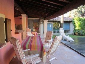 Ausblick von der Terrasse Mietobjekt Villa 94234 Anduze