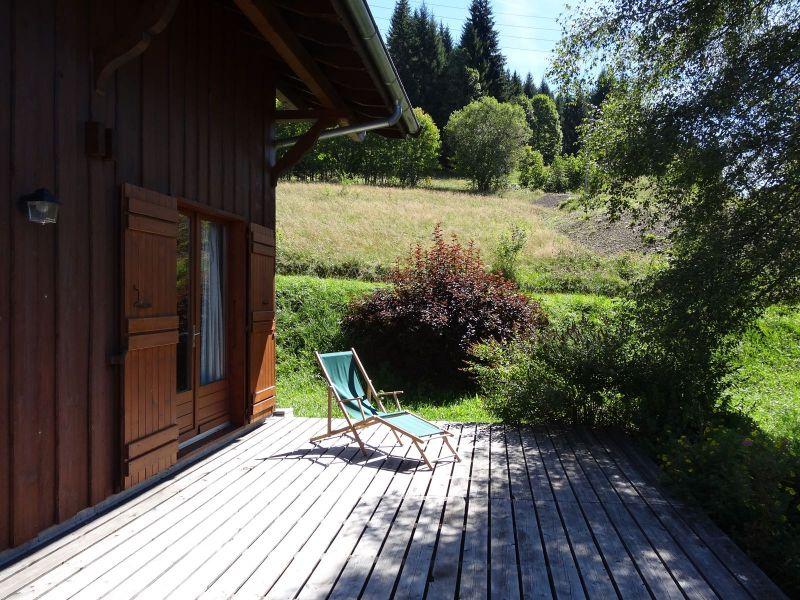 Ausblick von der Terrasse Mietobjekt Chalet 104727 Les Gets