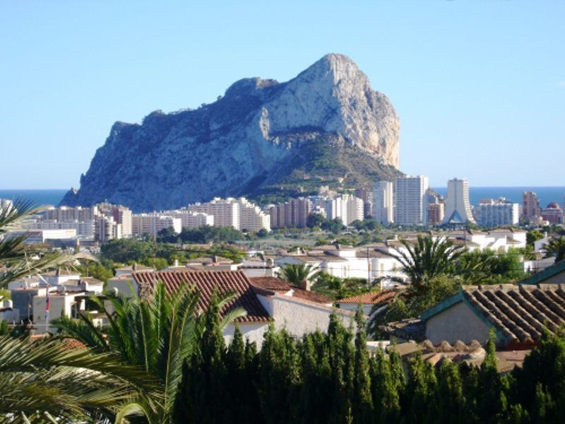 Ausblick vom Balkon Mietobjekt Villa 114094 Calpe
