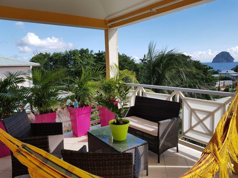 Ausblick von der Terrasse Mietobjekt Appartement 84275 Le Diamant
