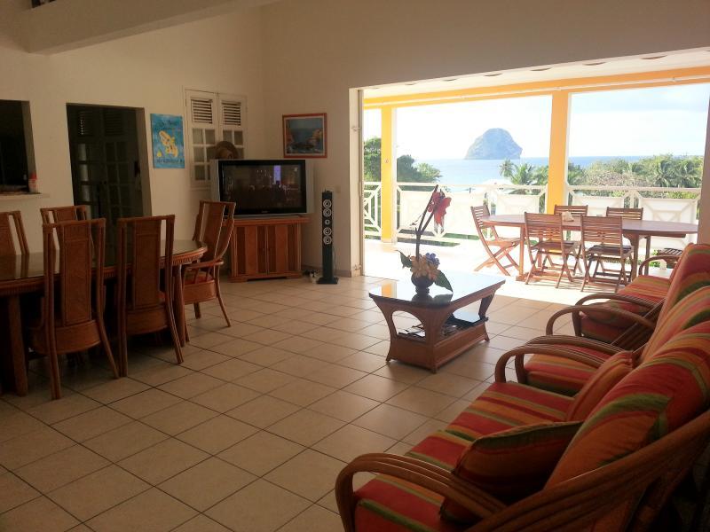 Ausblick aus der Ferienunterkunft Mietobjekt Appartement 84275 Le Diamant