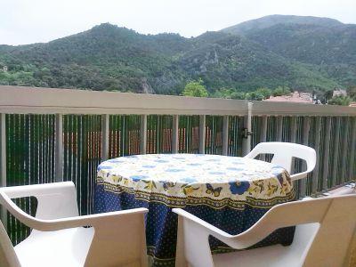 Ausblick vom Balkon Mietobjekt Appartement 112243 Amélie-Les-Bains