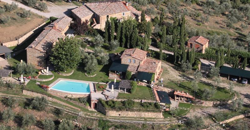 Ausblick aus der Ferienunterkunft Mietobjekt Ferienunterkunft auf dem Land 65957 Siena