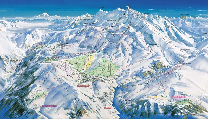 Kartenansicht Mietobjekt Studio 93111 Alpe d'Huez