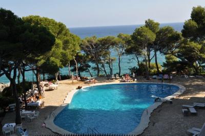 Ausblick von der Terrasse Mietobjekt Appartement 94441 Sant Antoni de Calonge