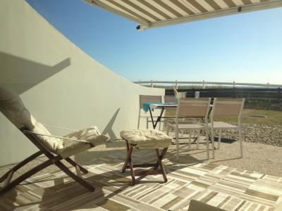 Ausblick von der Terrasse Mietobjekt Studio 98516 Hardelot