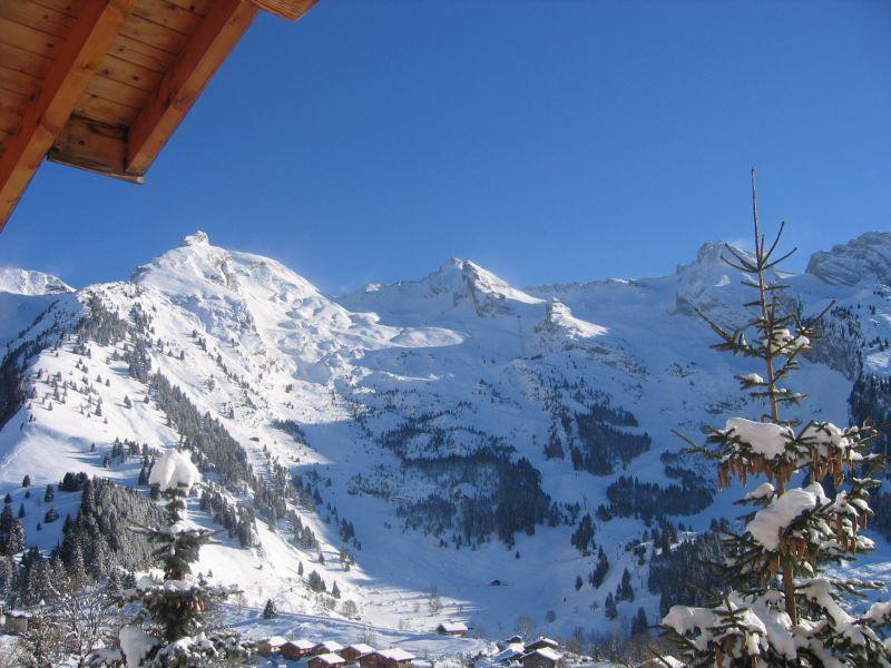 Ausblick vom Balkon Mietobjekt Chalet 112531 La Clusaz