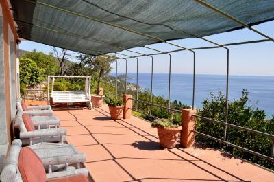Ausblick von der Terrasse Mietobjekt Appartement 66840 Alassio