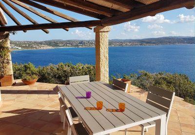 Ausblick von der Terrasse Mietobjekt Villa 90063 Santa Teresa di Gallura