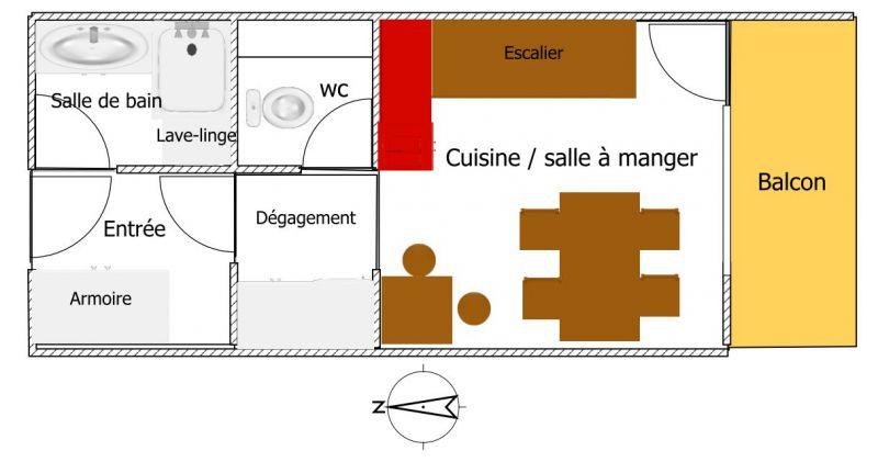 Grundriss des Objektes Mietobjekt Appartement 96964 Bourg Saint Maurice