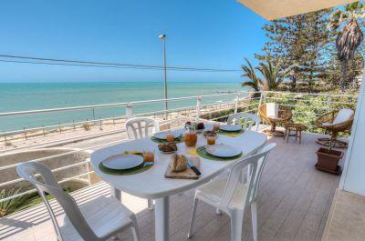 Ausblick von der Terrasse Mietobjekt Appartement 105274 Punta Secca