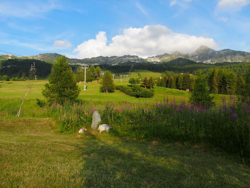 Ausblick von der Terrasse Mietobjekt Chalet 136 Les Arcs