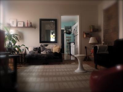 Wohnzimmer Mietobjekt Appartement 14220 Montr�al