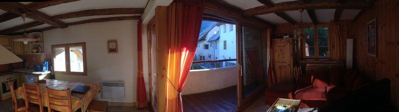 Ausblick vom Balkon Mietobjekt Appartement 14750 Serre Chevalier