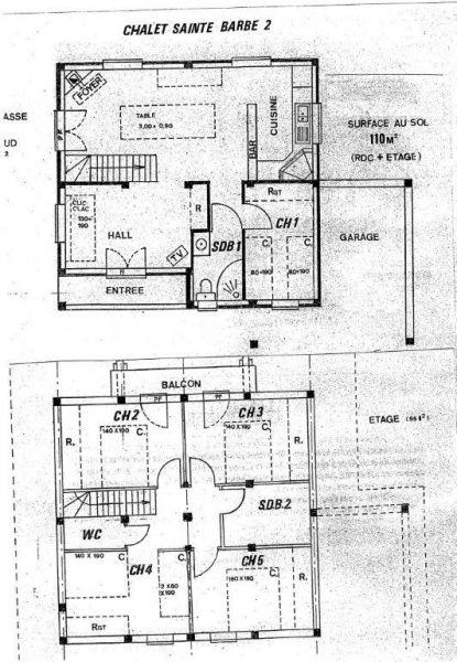 Grundriss des Objektes Mietobjekt Chalet 14859 Praz de Lys Sommand
