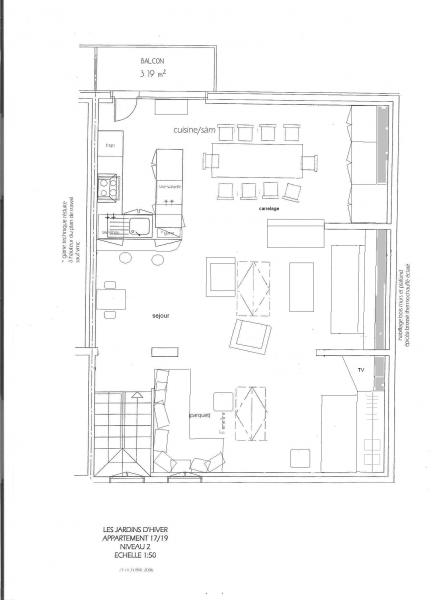 Grundriss des Objektes Mietobjekt Appartement 16260 Valmorel