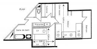 Grundriss des Objektes Mietobjekt Appartement 2147 La Plagne