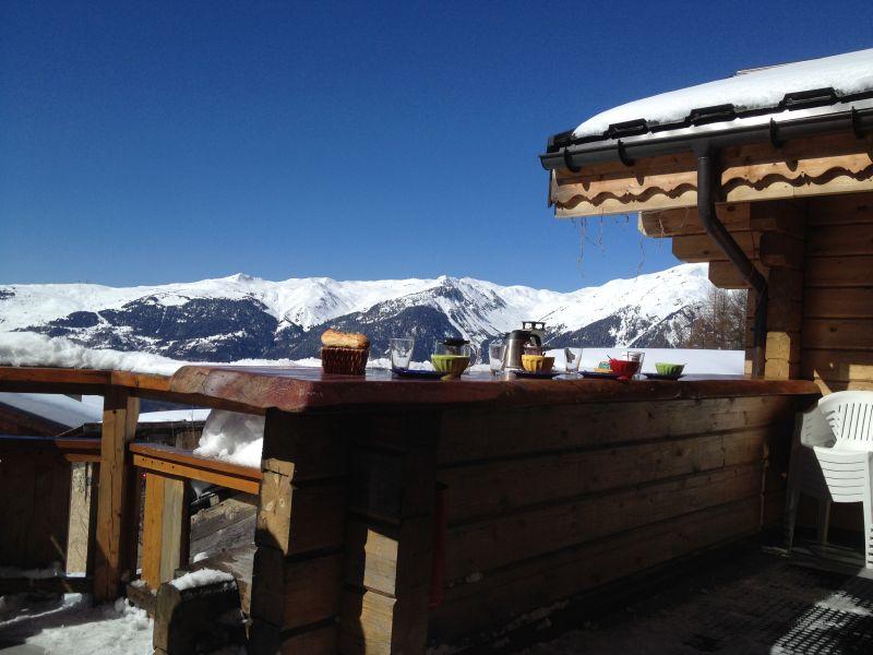 Ausblick von der Terrasse Mietobjekt Chalet 2248 La Plagne