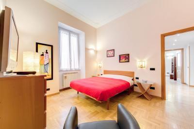 Schlafzimmer 1 Mietobjekt Appartement 24789 Rom