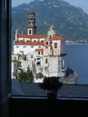 Ausblick vom Balkon Mietobjekt Haus 24852 Amalfi