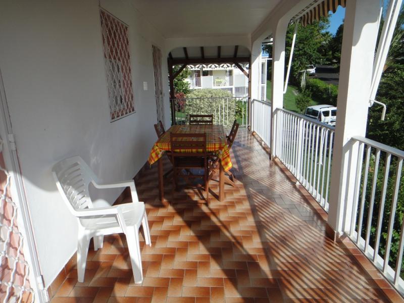 Ausblick vom Balkon Mietobjekt Appartement 25506 Gosier (Guadeloupe)