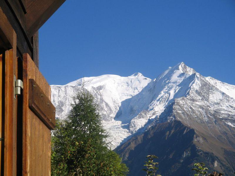 Ausblick aus der Ferienunterkunft Mietobjekt Chalet 2585 Saint Gervais Mont-Blanc
