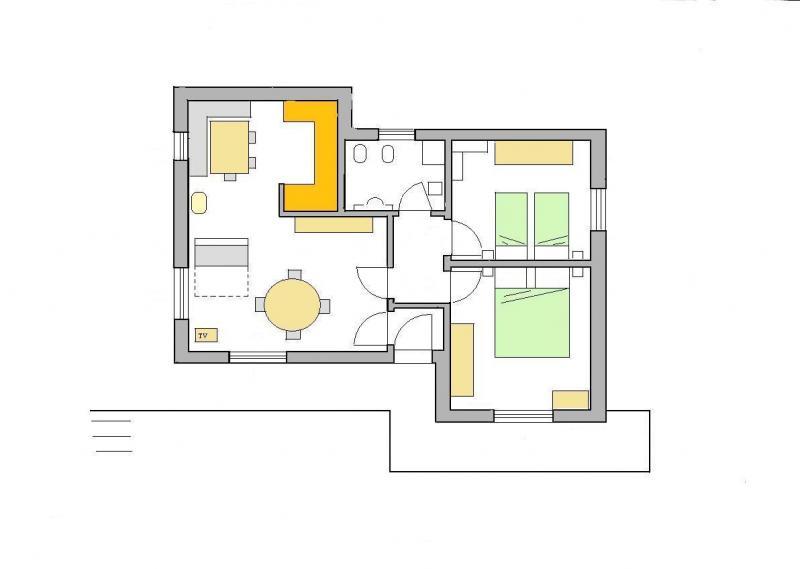 Grundriss des Objektes Mietobjekt Appartement 28148 Selva di Cadore