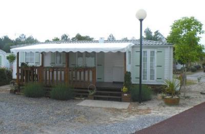 Terrasse Mietobjekt Mobil-Home 30930 Soustons