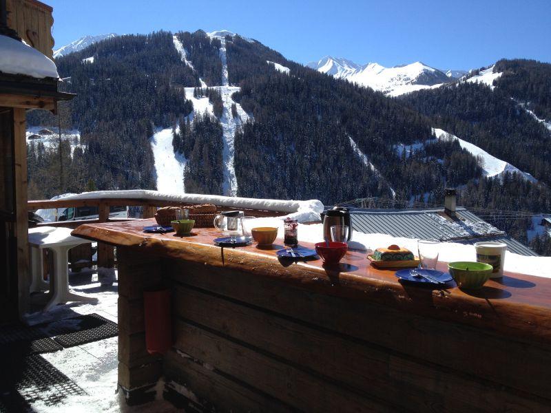 Ausblick von der Terrasse Mietobjekt Chalet 31596 La Plagne