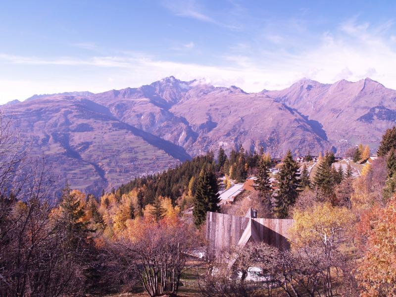 Ausblick von der Terrasse Mietobjekt Chalet 320 Les Arcs