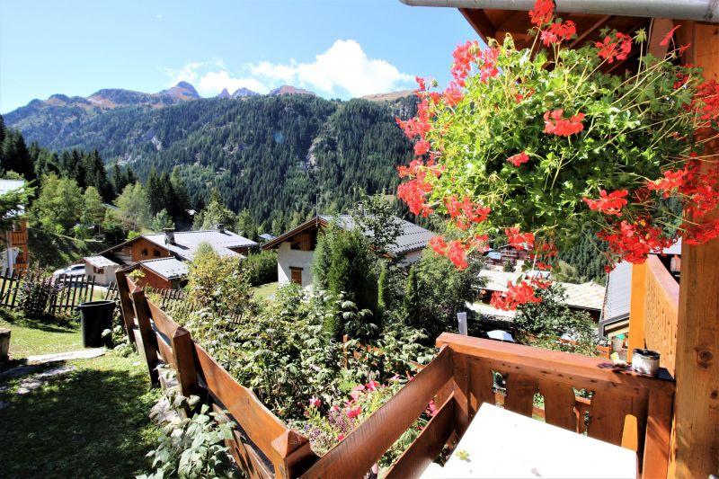 Ausblick von der Terrasse Mietobjekt Chalet 3290 Valfréjus