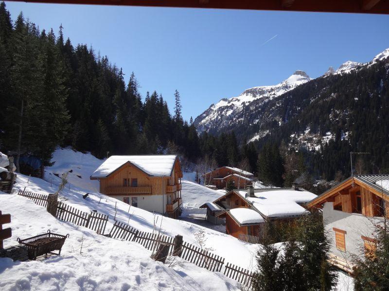 Ausblick von der Terrasse Mietobjekt Chalet 3291 Valfréjus