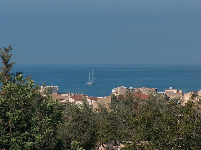Ausblick von der Terrasse Mietobjekt Appartement 35318 Marina di Ragusa