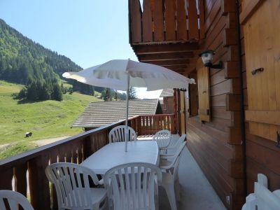 Ausblick vom Balkon Mietobjekt Chalet 38701 Abondance
