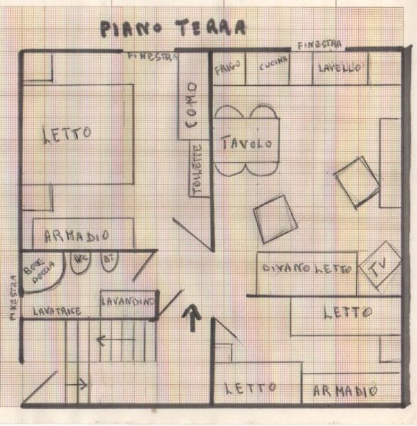 Grundriss des Objektes Mietobjekt Haus 43100 Punta Secca