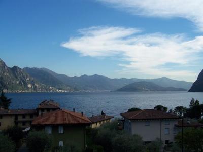 Ausblick von der Terrasse Mietobjekt Appartement 44030 Riva di Solto