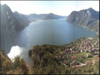 Ausblick aus der Ferienunterkunft Mietobjekt Schlo� 49352 Riva di Solto