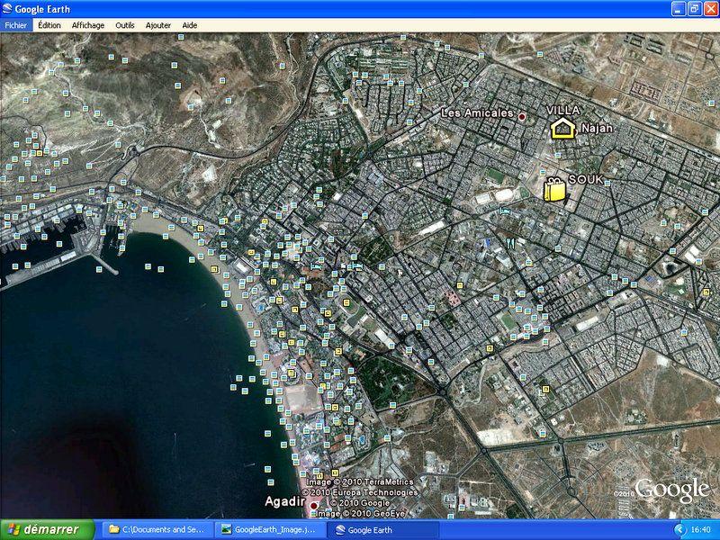 Kartenansicht Mietobjekt Villa 54307 Agadir