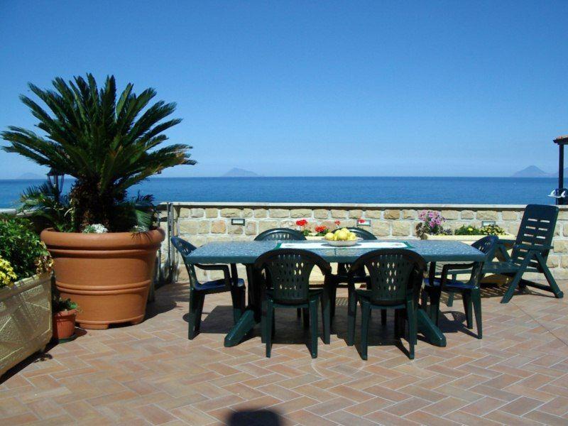 Ausblick von der Terrasse Mietobjekt Villa 54358 Capo d'Orlando